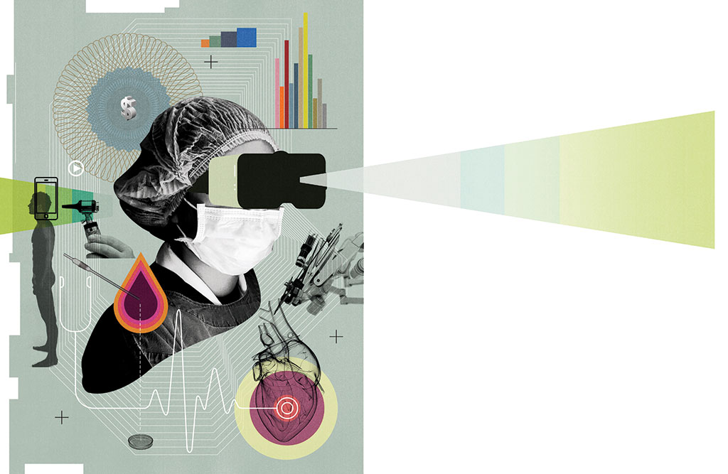 Collage of people and medical devices