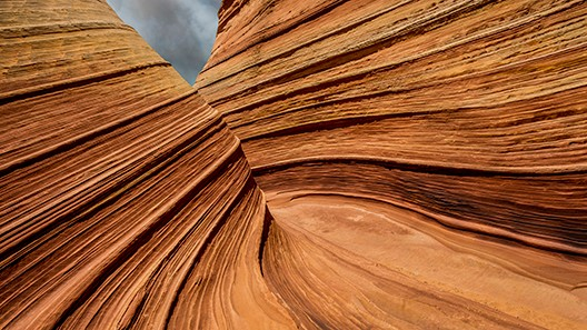 Textured red canyon walls