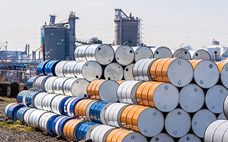 Oil drums piled up