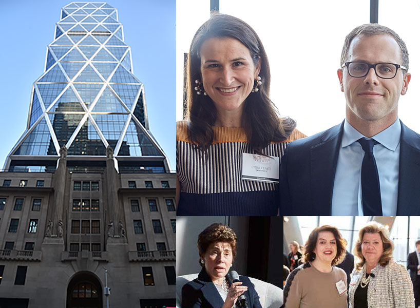 Montage of a city building and attendees to the Town & Country 2018 Philanthropy Summit