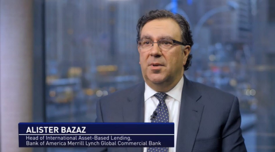 Head shot of Alister Bazaz, Head of International Asset-Based Lending, Bank of America Merrill Lynch Global Commercial Bank