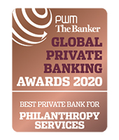 Best Private Bank for Philanthropy Services award